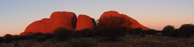 At the Kata Tjuta sunset viewing area - beautiful!