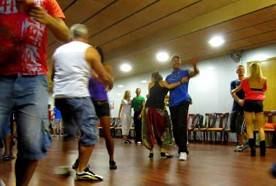 Workshops, workshops and more workshops... this one by Braz & Josy (actually Lucia with  Braz in this pic)
