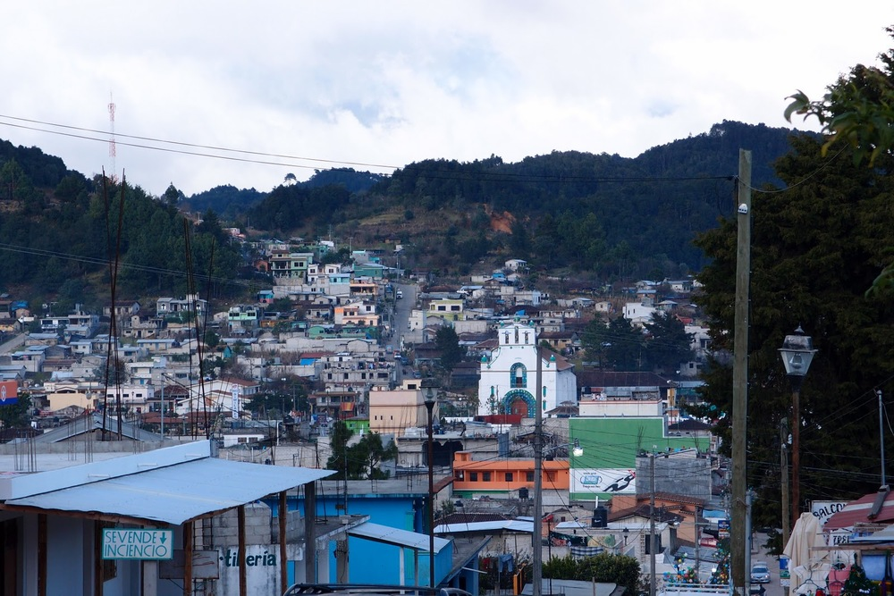 The only picture I took from San Juan Chamula - no photography in town or especially in the church to respect the locals. The church is in the middle.