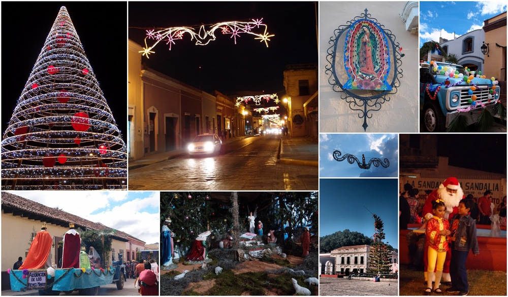 "A collage of my ""Christmas stuff in Mexico"""