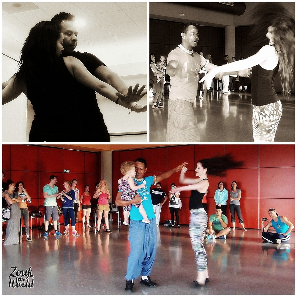 Braz compartilhando sua alegria para dançarinos ao redor do mundo