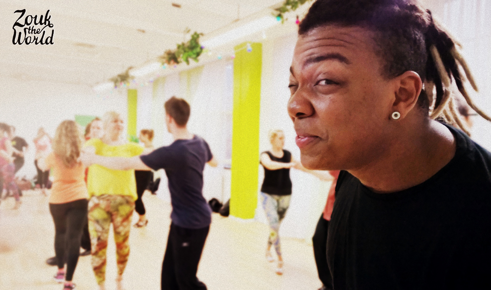 a zouk class with Val Clemente - Val spreading his positive mood