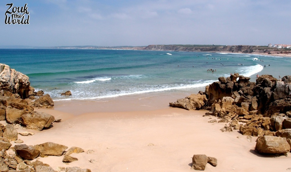 A tempting quiet spot at the beach in Baleal - the water was full of surfers