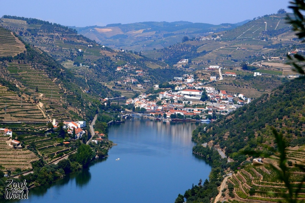 Pinhão from the hill across the Douro river
