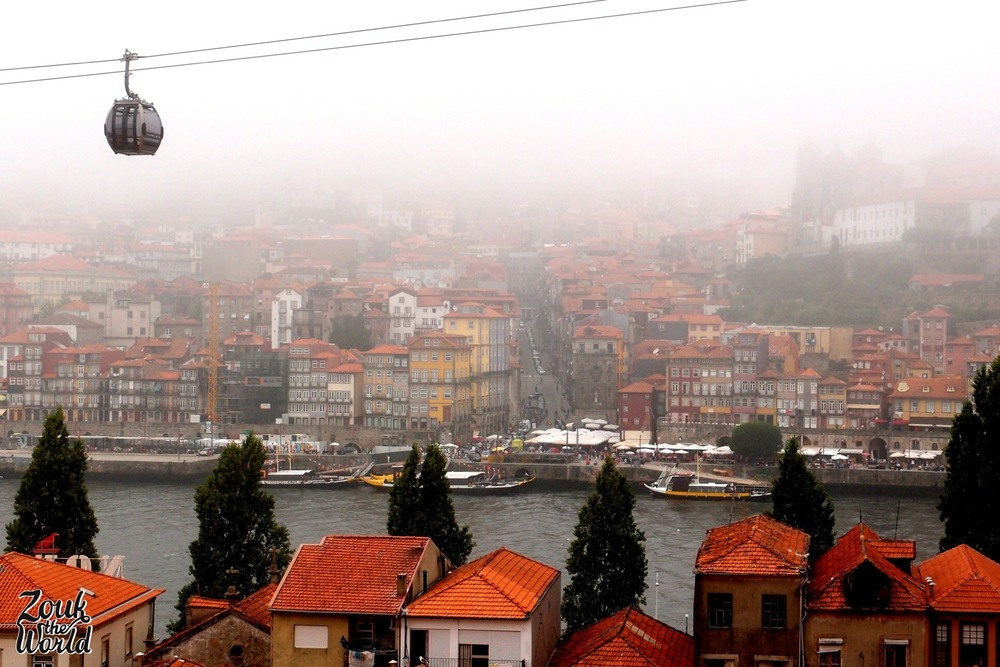 Walk up the hill in Vila Nova de Gaia to see the view to Porto's old town!