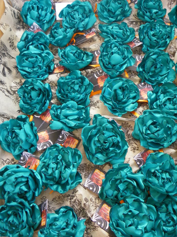 Handmade rose corsages