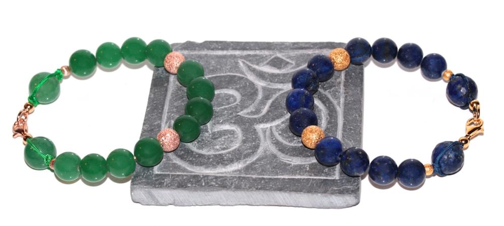 Atelier Jawery - Bracelet en Lapis Lazuli, Jade et Or