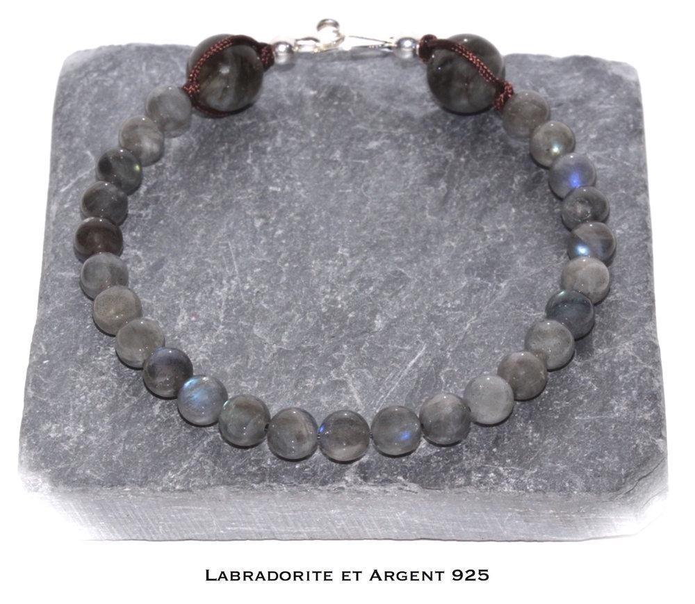 Bijou de poignet Discrétion en Labradorite et Argent