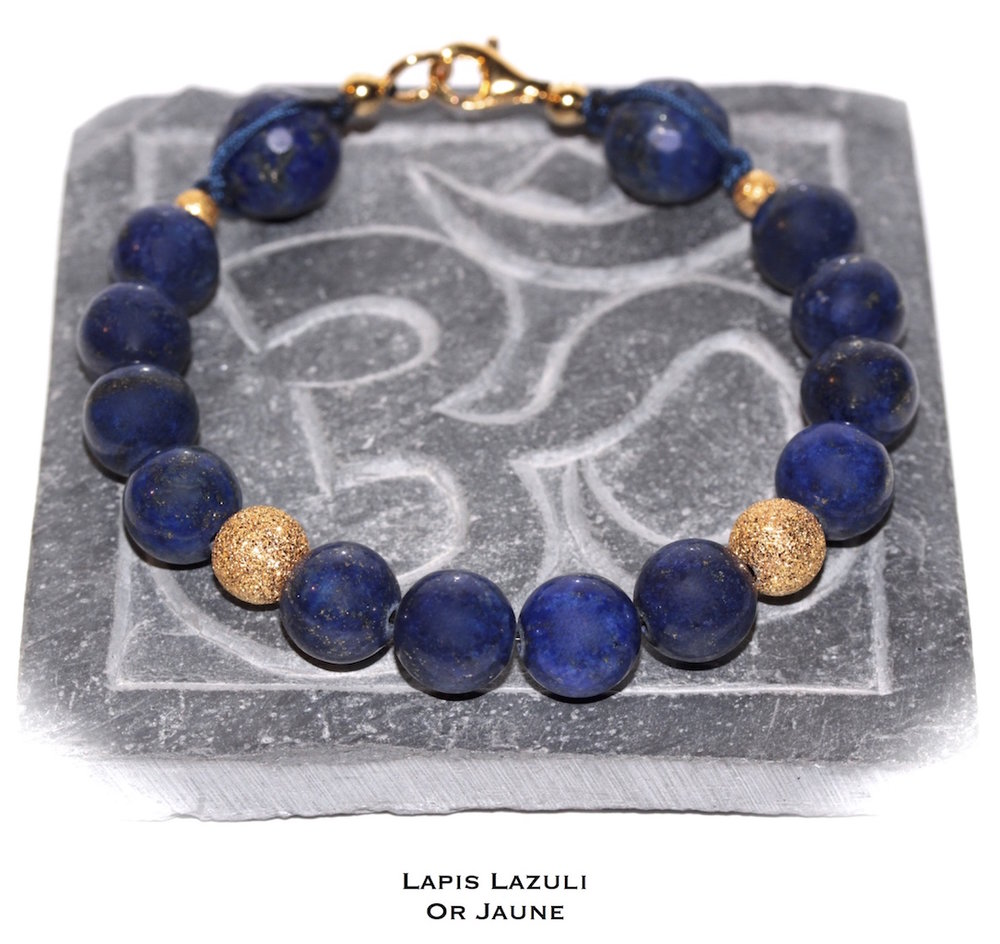 Bijou de poignet en Lapis Lazuli et Or Jaune