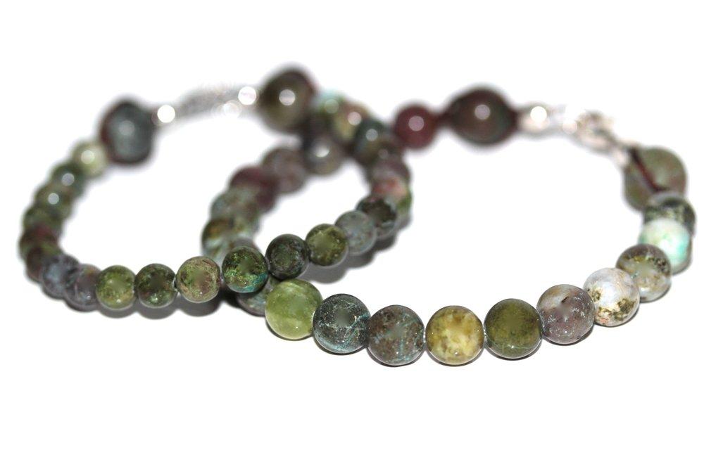 Bracelets en Jaspe Vert de l'atelier JAWERY