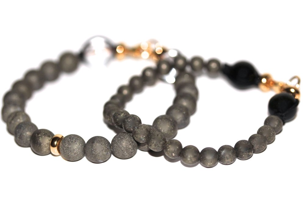 Bracelets précieux de l'atelier JAWERY en Pyrite