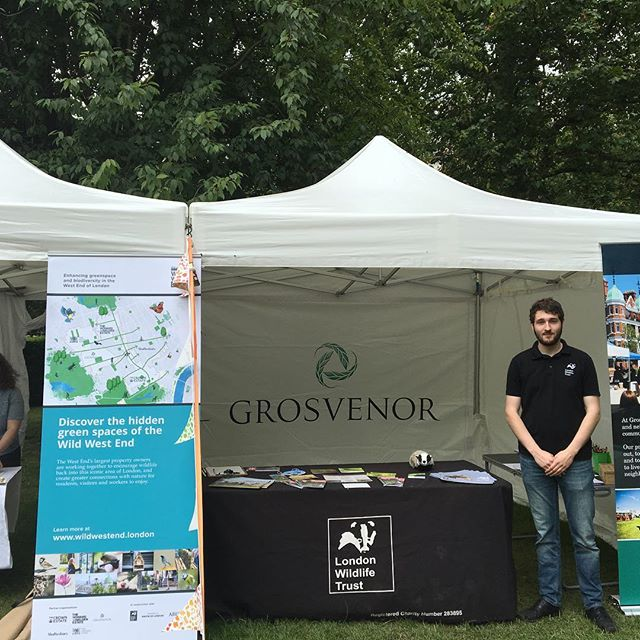 @wild.london and @grosvenor_LDN promoting @wild_west_end and value of green space at Summer in the Square