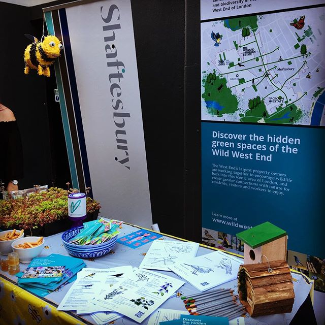 Shaftesbury at Carnaby Street Eat promoting #wild_west_end #urbangreening #bees @carnabylondon
