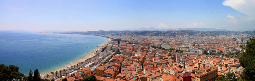 View of Nice from Mont Boron on February, 2015