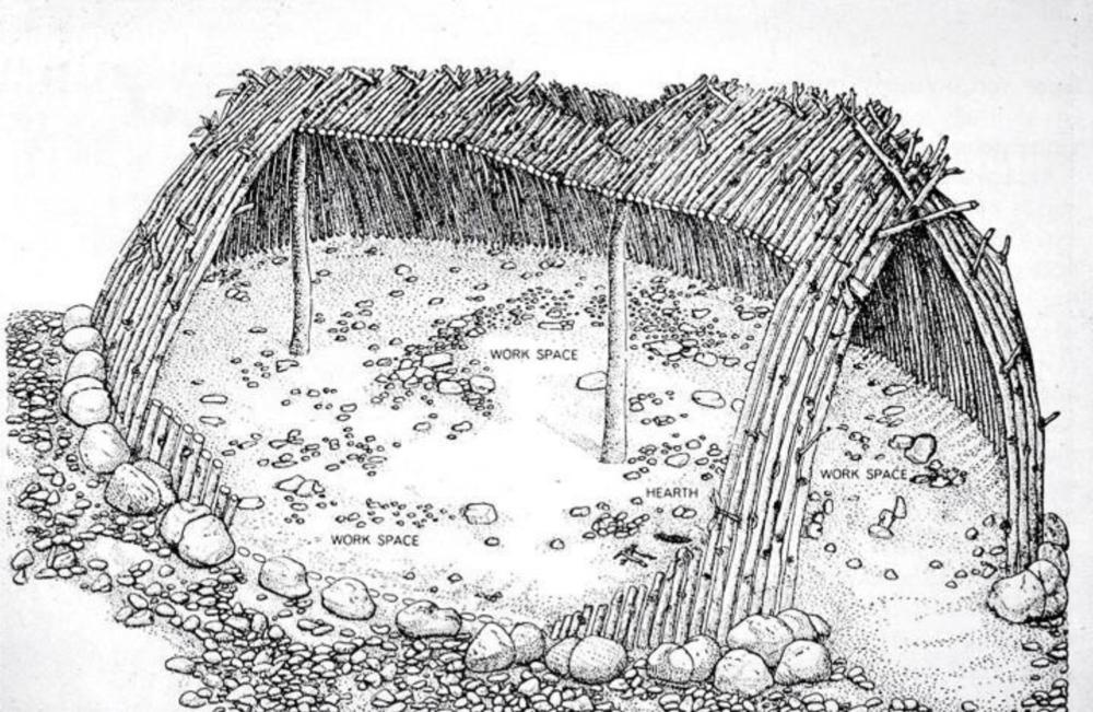 Reconstructed Terra Amata hut