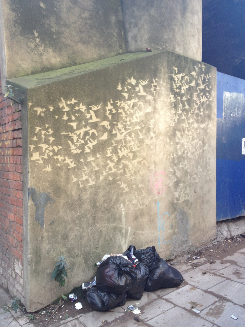 Shoreditch flight path, art hidden on every street in this part of London.