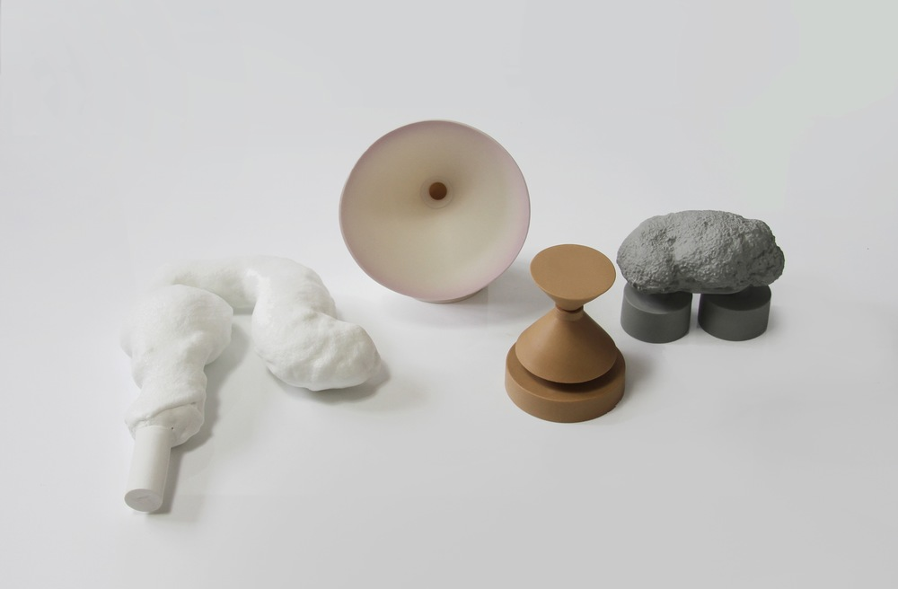 Bone China clay, glaze, parian, coloured parian, pink engobe, 2012 - 2014