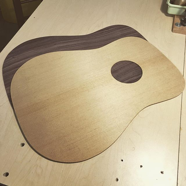 Torrified top for a dreadnaught kit #idtapthat #guitarshop #guitarist #guitargear #mnguitarist #acousticguitar #unplugged