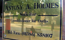 Antony A Holmes Solicitors Old British Schoolroom 47B High Street Broadway WR12 7DP Tel: 01386 858107 E: info@aaholmes.co.uk