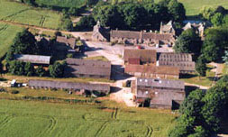 Aerial shot of the farmyard