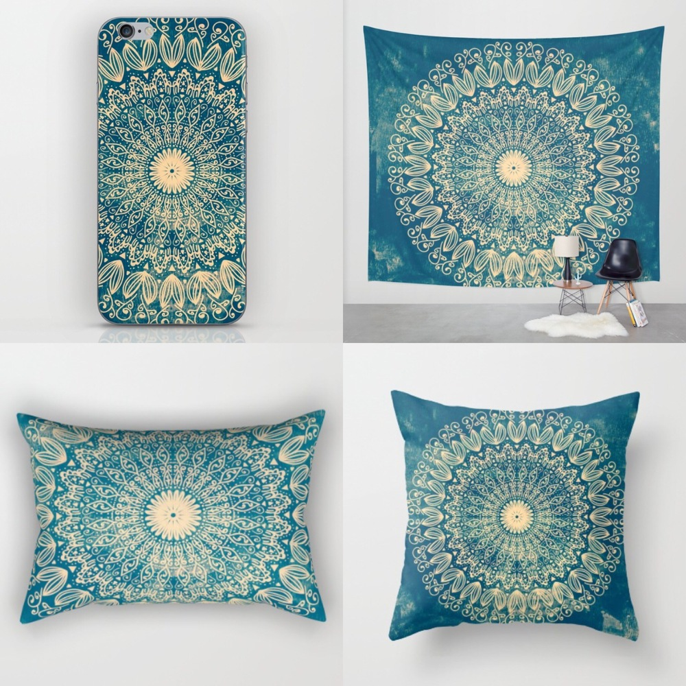 Organic Blue Mandala