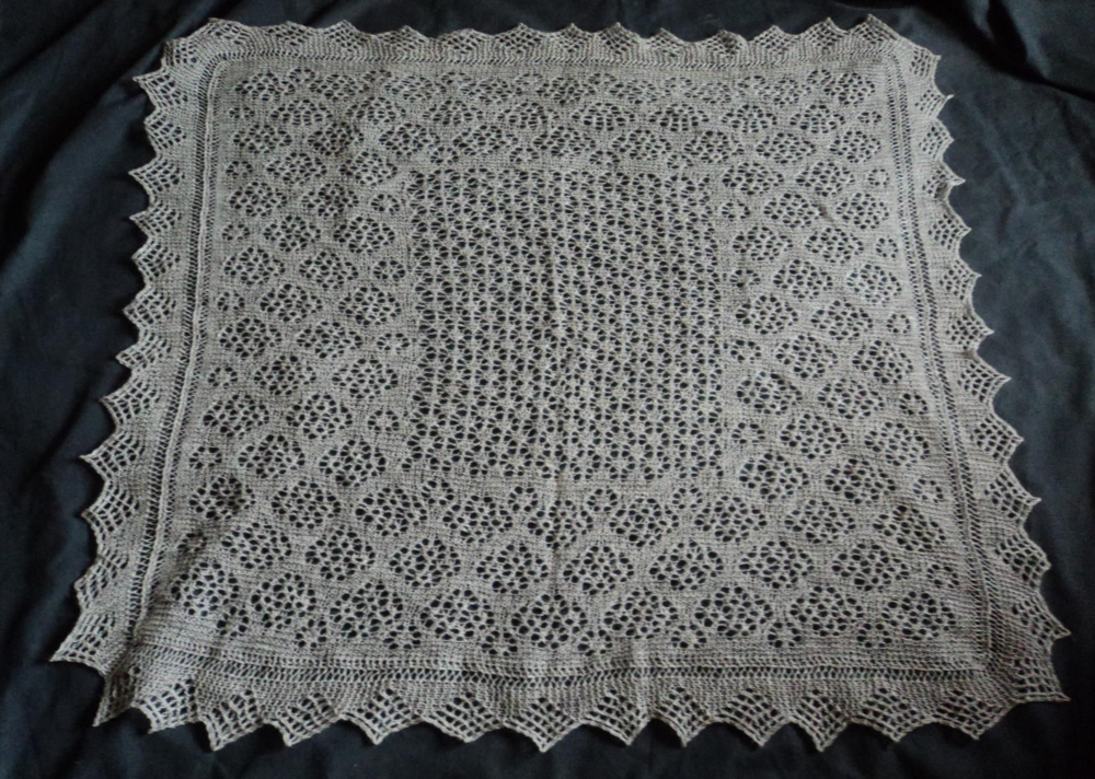 This is the shawl I designed in memory of my mother, Jeannie.