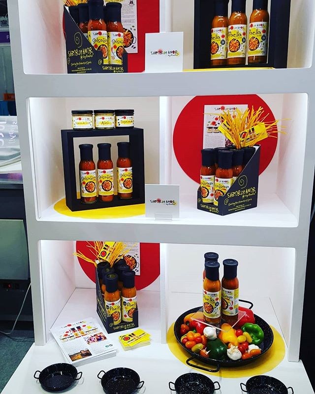 So pretty!!! Visit us @farmshop_deli this week. We are stand N91 at the fantastic #foodandrinkwales #fsd2019 #paellasauce #foodentrepreneur #tapas