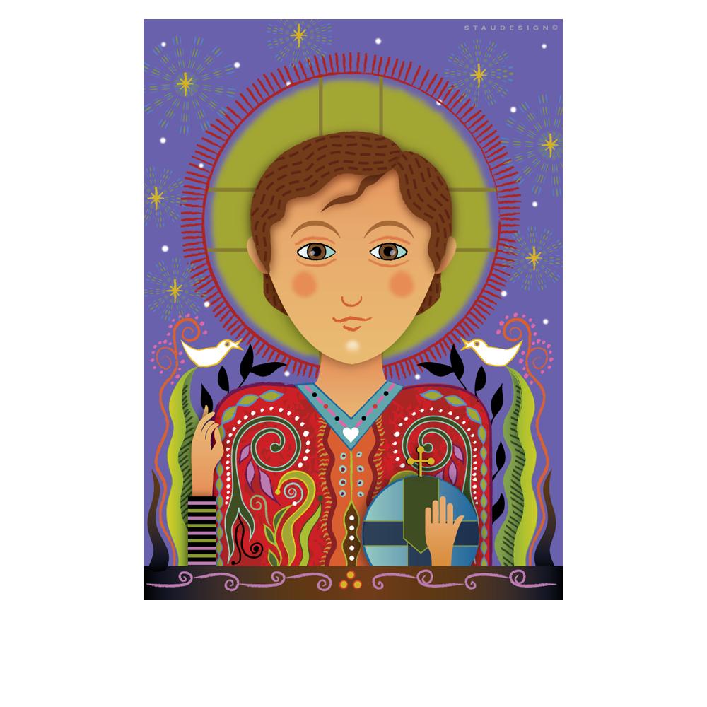 Root of Jesse-Catholic Christmas Card