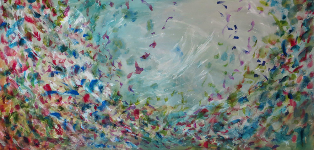 "Turquoise Eddy <br>26""x 40"""