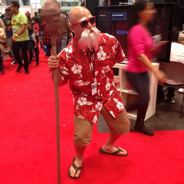 Spotted Master Roshi at nyc comicon. #NYComicCon #dbz #dragonball #pigtailstudio