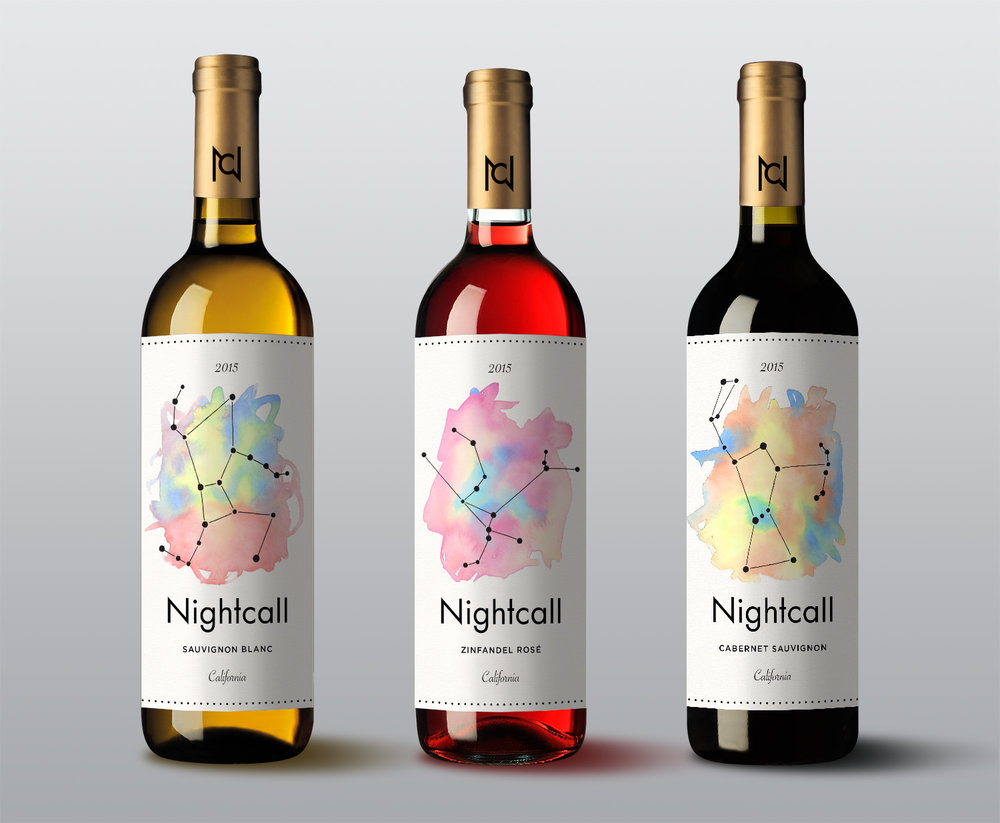 Nightcall Wine Labels (2015)