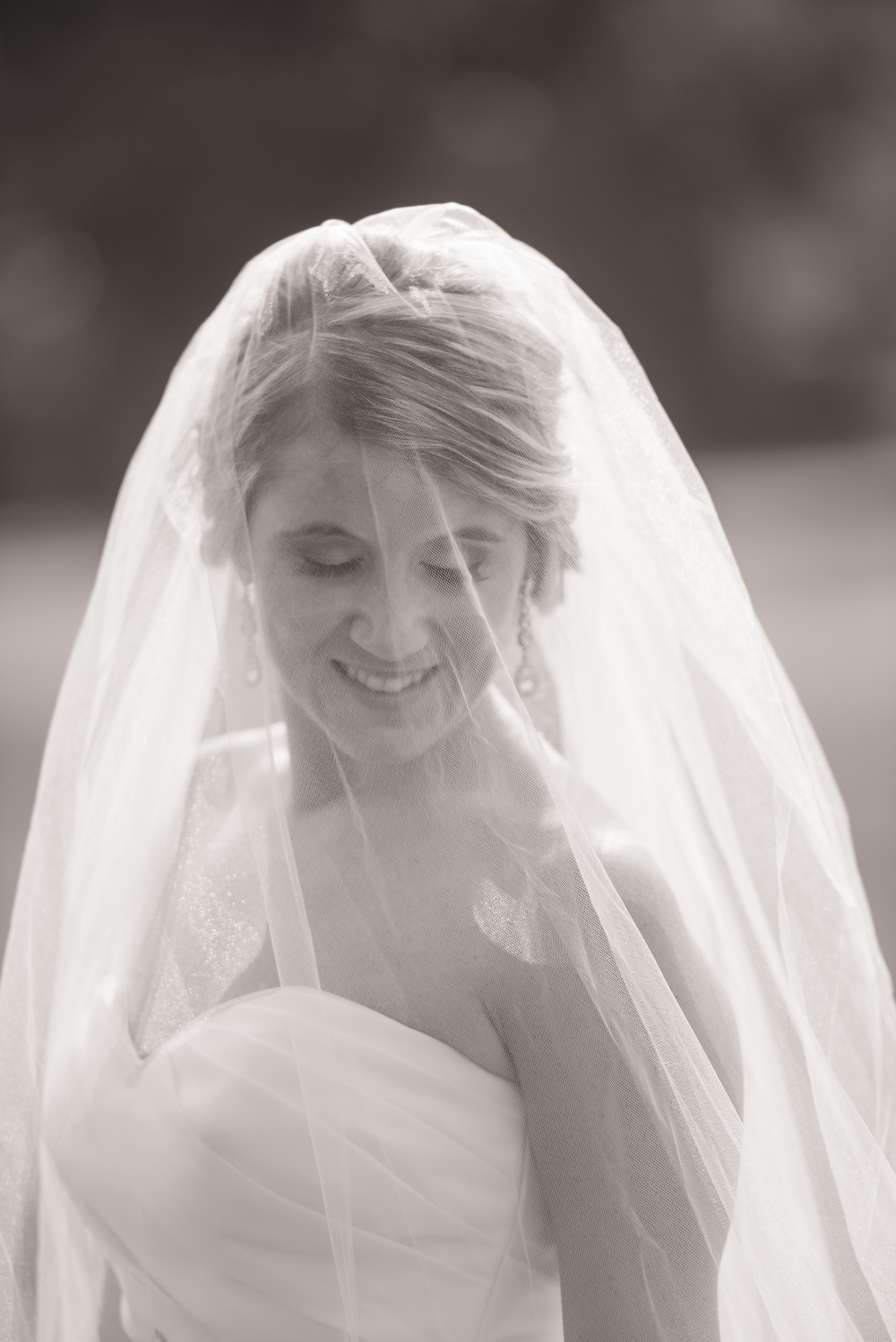 Long Veil - Easton Wedding Photographer