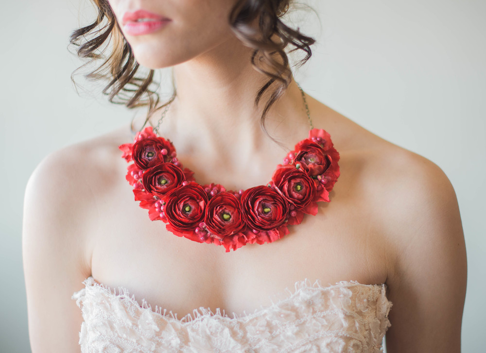 Brides Flower Necklace