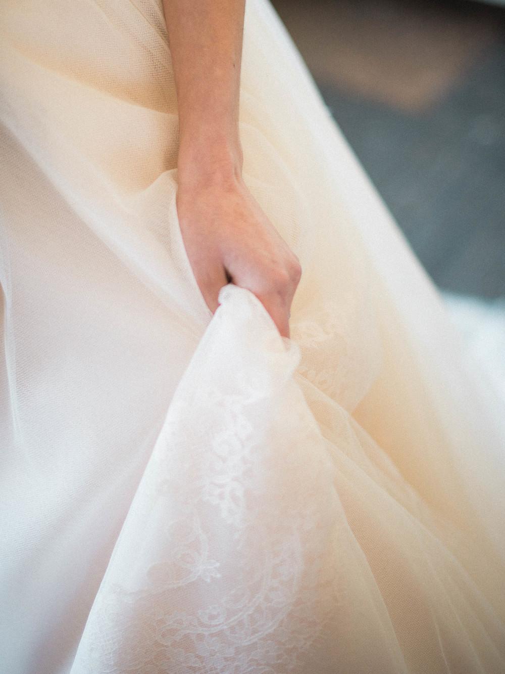 tulle dress details