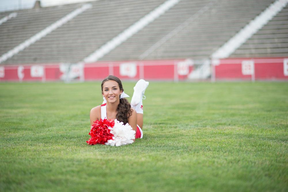 Cheerleader Senior Portraits