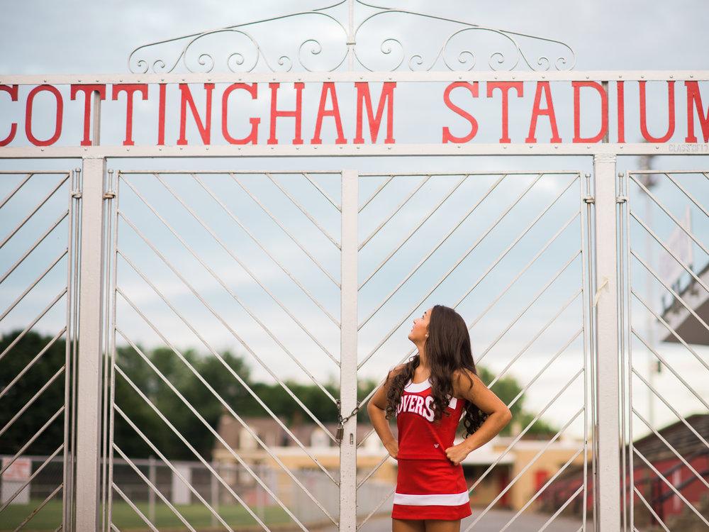 Senior Portraits at Easton Football Field