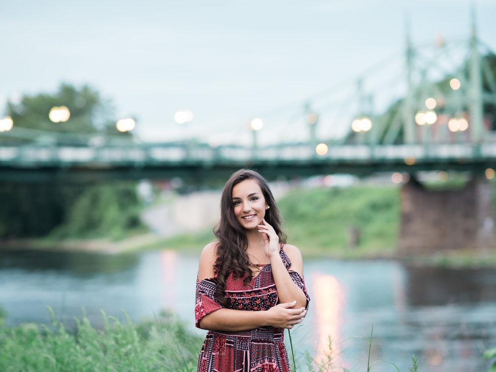 Senior Pictures at the bridge