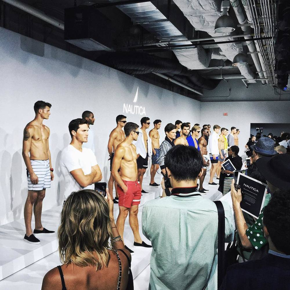 At the Nautica SS2016 presentation!