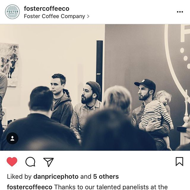 So stoked to hold my kid and to give the key note talk tonight @fostercoffeeco about innovation within filmmaking and the creative process. Showed my #shotoverg1giveaway film and heard some great responses and awesome encouragement and so stoked to just be a part of middle Michigan creative scene for a night. You all we're awesome and such talent! Vote on my link in bio. Thanks!!!