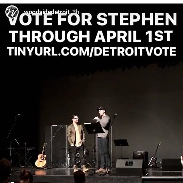 Thanks so much Woodside Detroit for having me up to talk about filming detroits story and the #shotoverg1giveaway my passion is filmmaking and loving others through that. It's go time, 12 days left to vote everyday. Thank you to everyone who is voting and spreading the word about voting. The gear in this competition is insane, but a bigger thing than the gear I could win, is the change we could bring by telling stories with the quality the gear can bring to help change people's lives for the better, give them encouragement, from people who feel they have no voice to people at the top of their game who have an important message. So if you could ask 5-10 friends next to you to vote at tinyurl.com/detroitvote Link also in bio, I need about 2000 votes. Thanks.