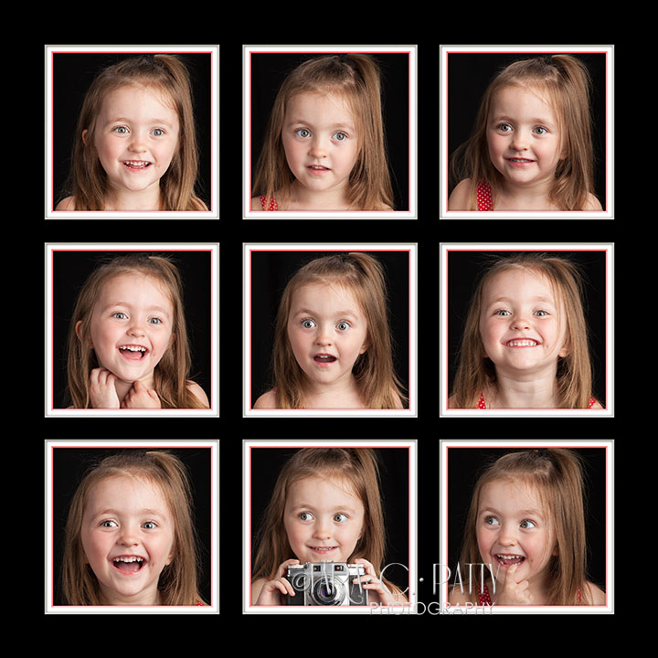 A four year old having fun during a Child Mini Session