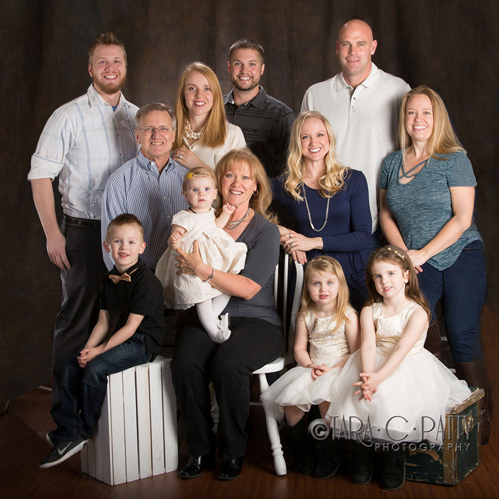 Extended families are easy to photograph at our spacious studio