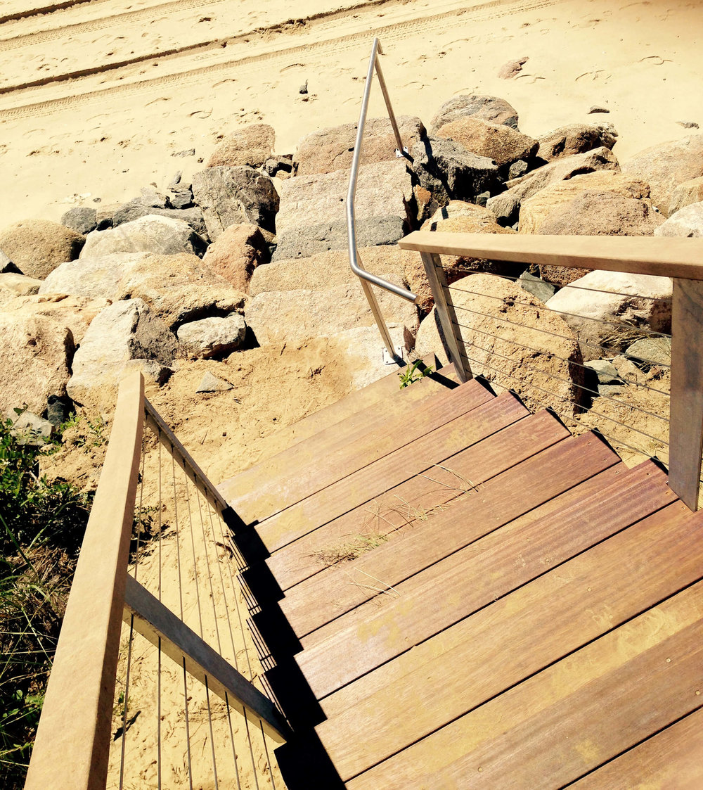 Beach Stair Railing