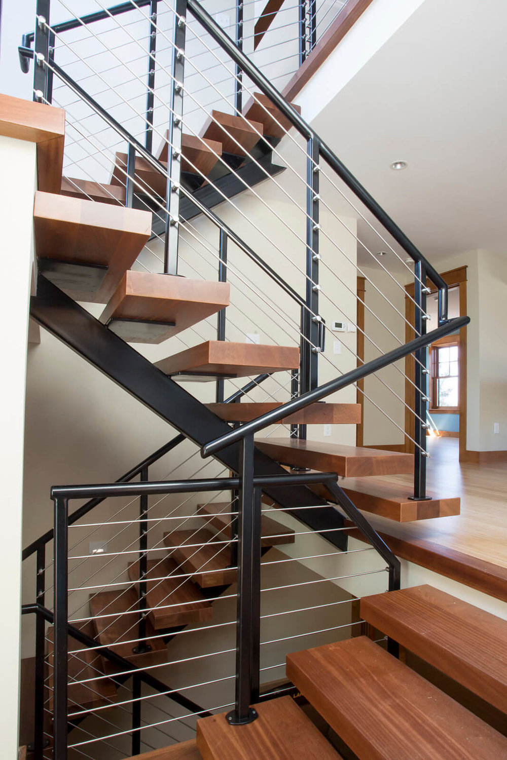 Steel Single Stringer Stair