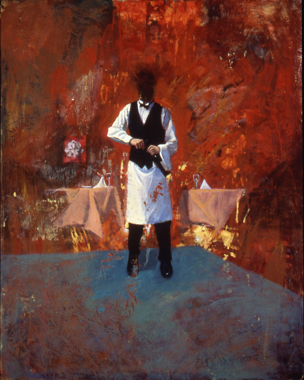 self portrait as a waiter