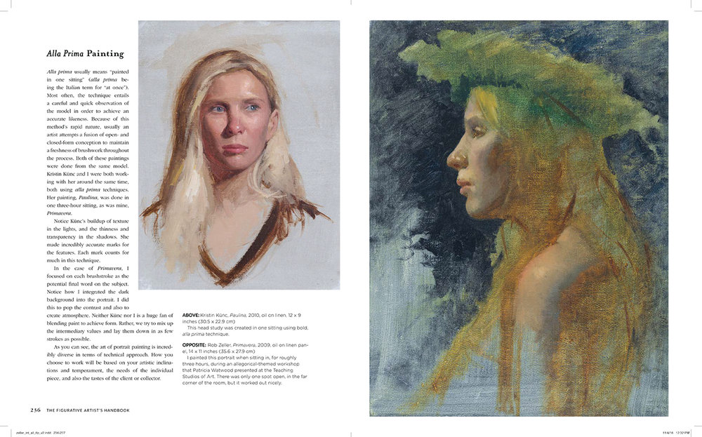A sample spread from the book on Alla Prima painting.