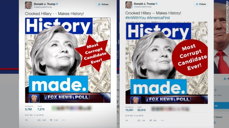 Photo courtesy of: CNN/Donald Trump's 'Star of David' tweet controversy, explained