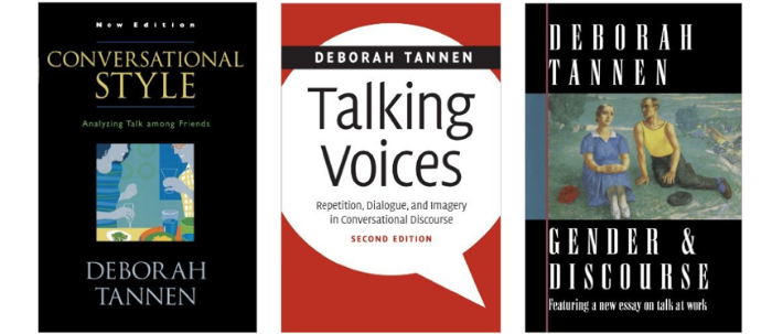 deborah tannen essay This task links to part two language and mass communication and the topic of stereotypes it explores how media shapes gender stereotypes.
