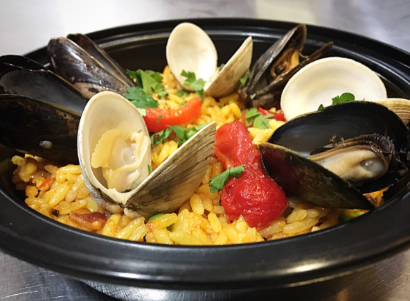Clam and Mussel Paella