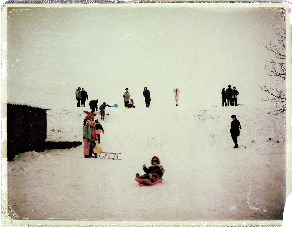 The first snow. Marosvásárhely, Romania, 2009